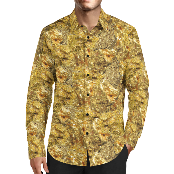 TMMG LUXURY RAW GOLD DRESS SHIRT
