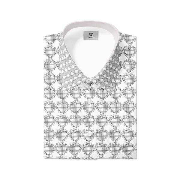 WHITE TMMG LUXURY PLAID DRESS SHIRT INSPIRED BY EZILI DANTO