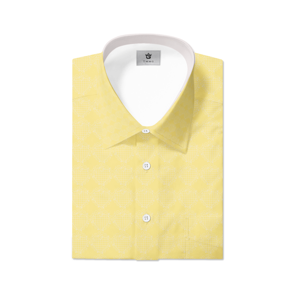 YELLOW TMMG LUXURY PLAID DRESS SHIRT INSPIRED BY EZILI DANTO