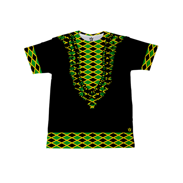 KIDS TMMG JAMAICAN FLAG DASHIKI STYLE T-SHIRT (KIDS)