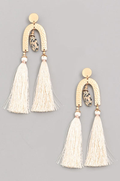 double tassel shape post