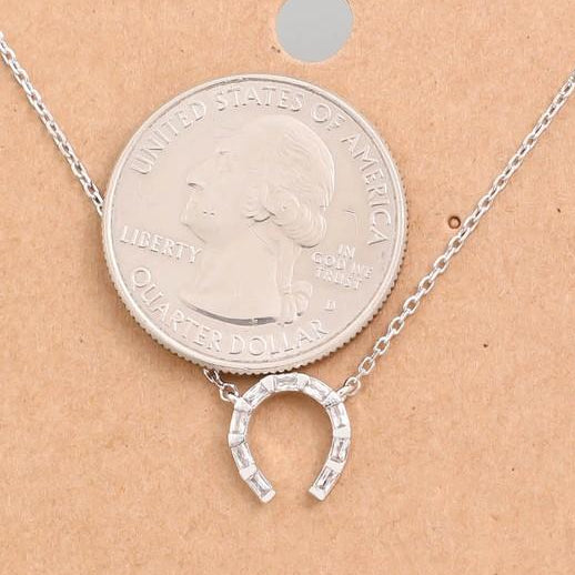 petite horse shoe necklace