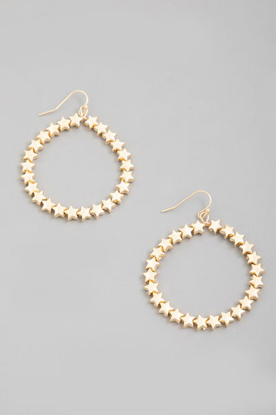 star beaded hoop earring