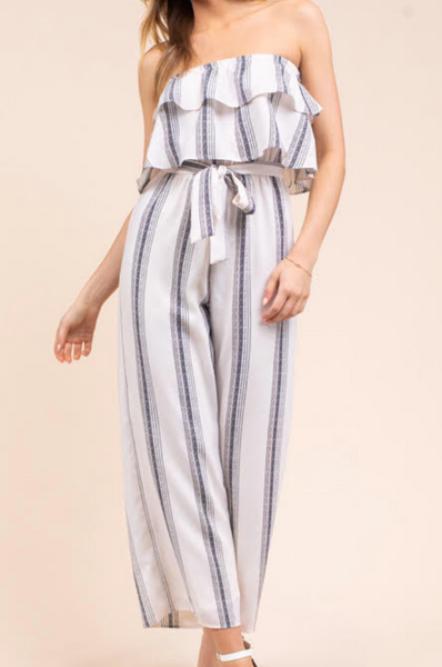 tube top culotte jumpsuit
