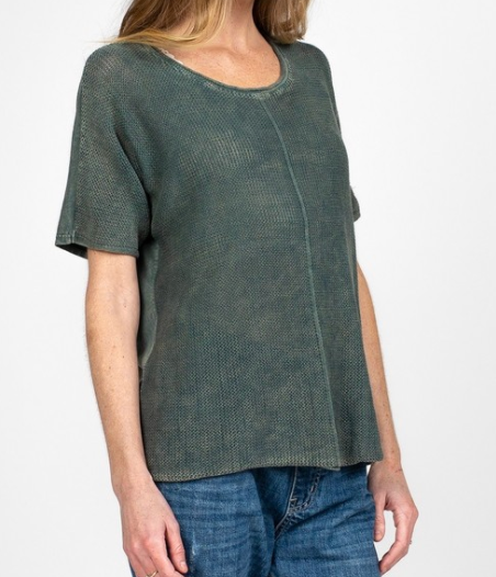 mineral washed dolman sleeve sweater