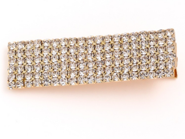 rectangle rhinestone hair clip