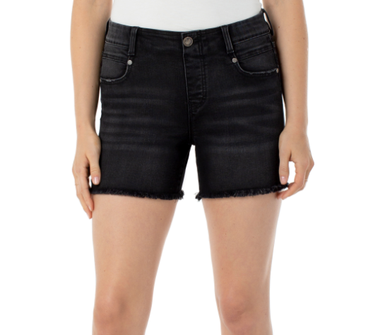 gia glider pull on frayed denim short