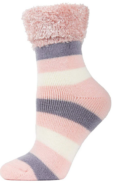 Plush Cabin Socks w/grippers