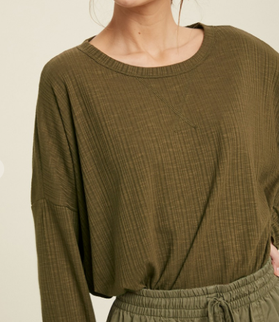 oversized ribbed top