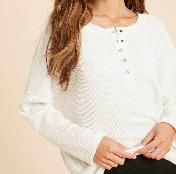 henley knit top