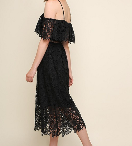 lace dress with floral detail