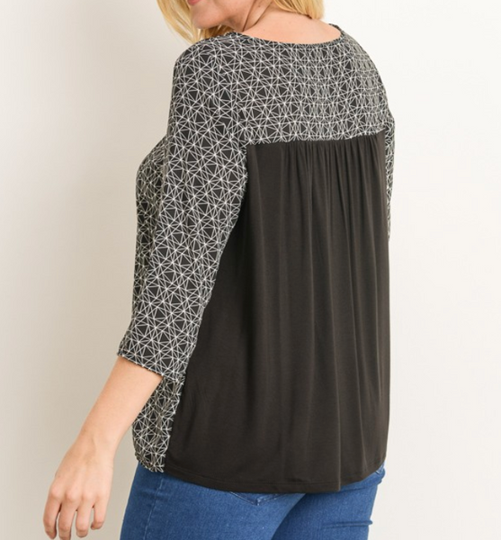 geo shaped mixed top
