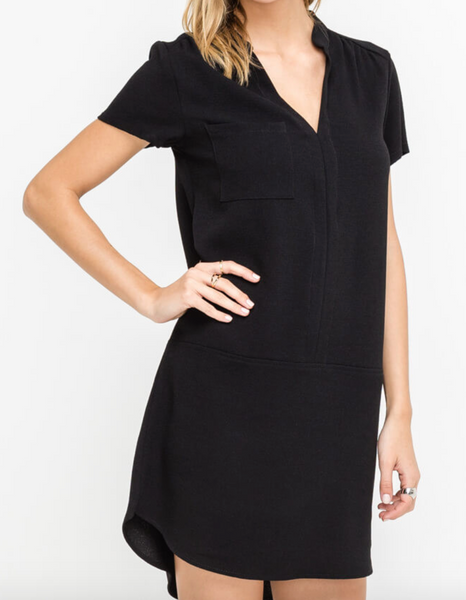 woven short sleeve dress