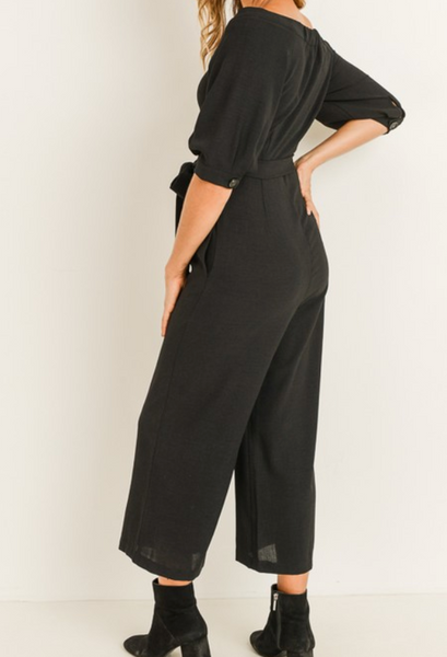 button down jump suit