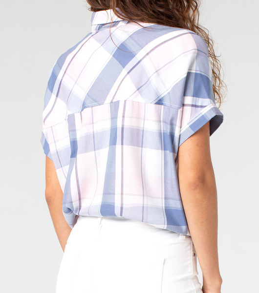 dolman plaid shirt