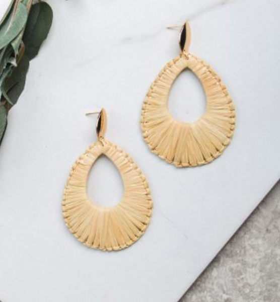 straw statement earring