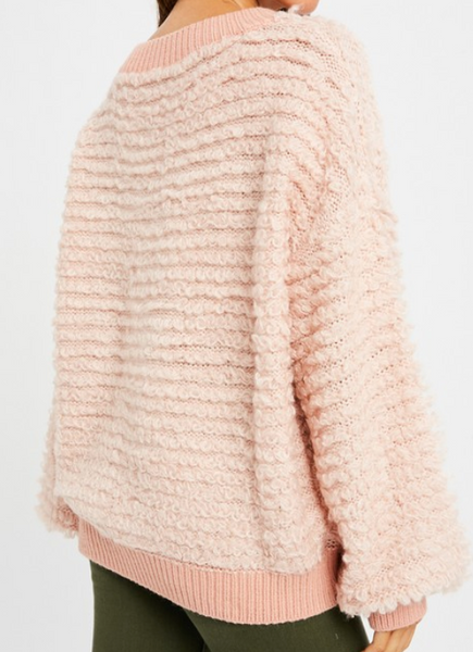 pullover shearing sweater