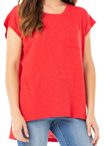 scoop neck dolman tee