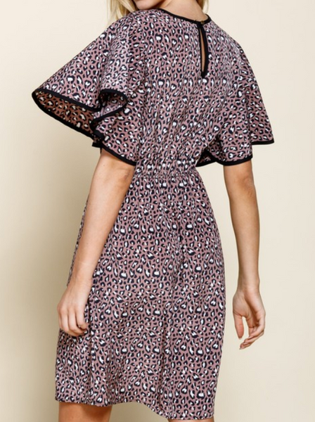 cheetah woven dress