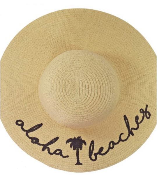 2292adeb426 aloha beaches floppy straw hat – Detalle Boutique