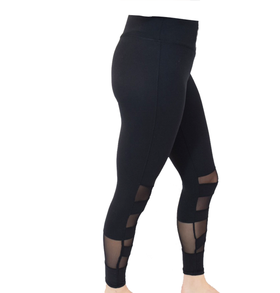 Daphne legging with mesh panels