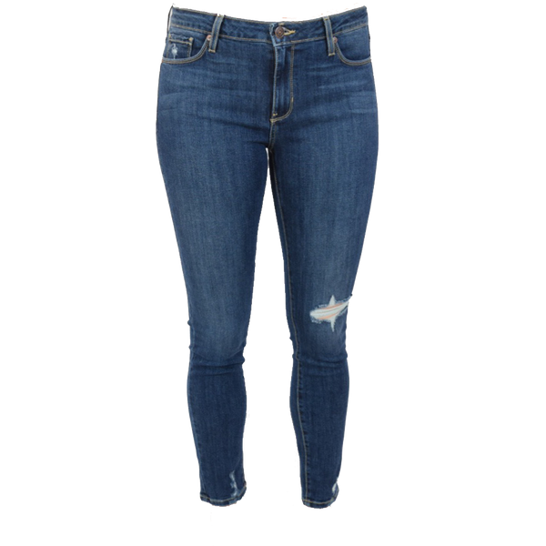 one knee distressed skinny jean