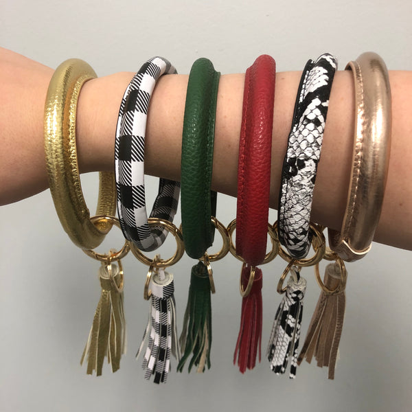 bangle keychain with tassel