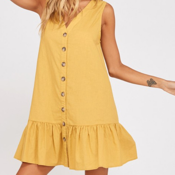 isla button down peplum dress