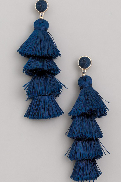 drop large tassel earring