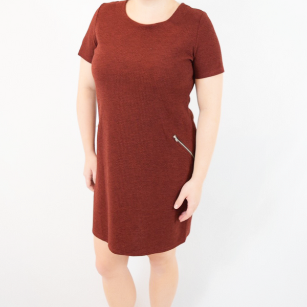 basic dress with zipper pockets