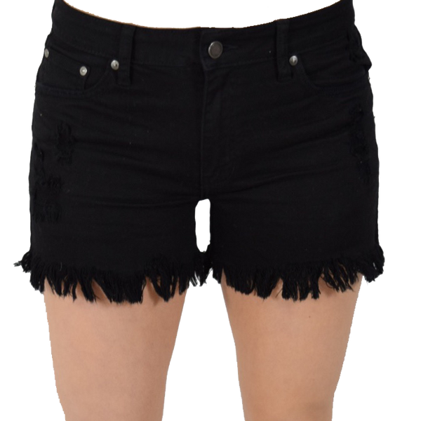 high rise hem short