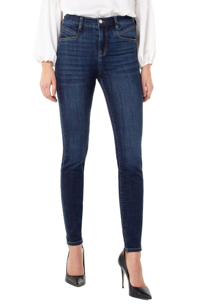 abby high rise skinny with slant pocket jean