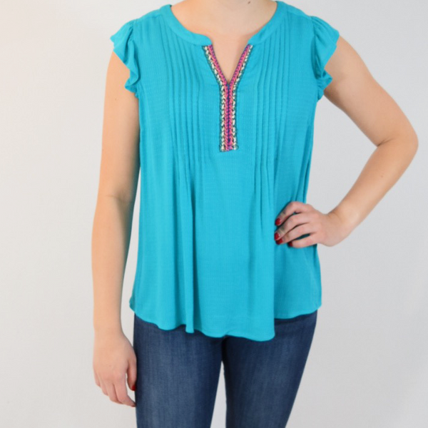 turquoise dream blouse
