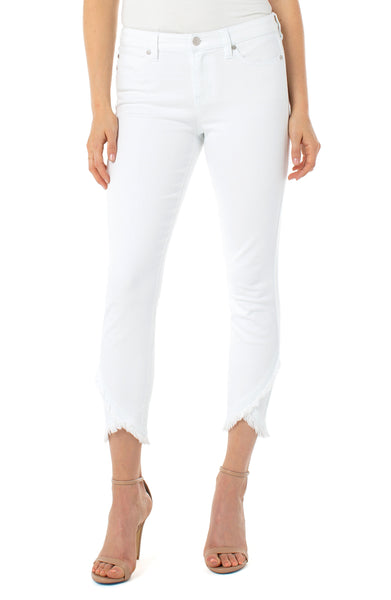 abby crop skinny jean with scallop