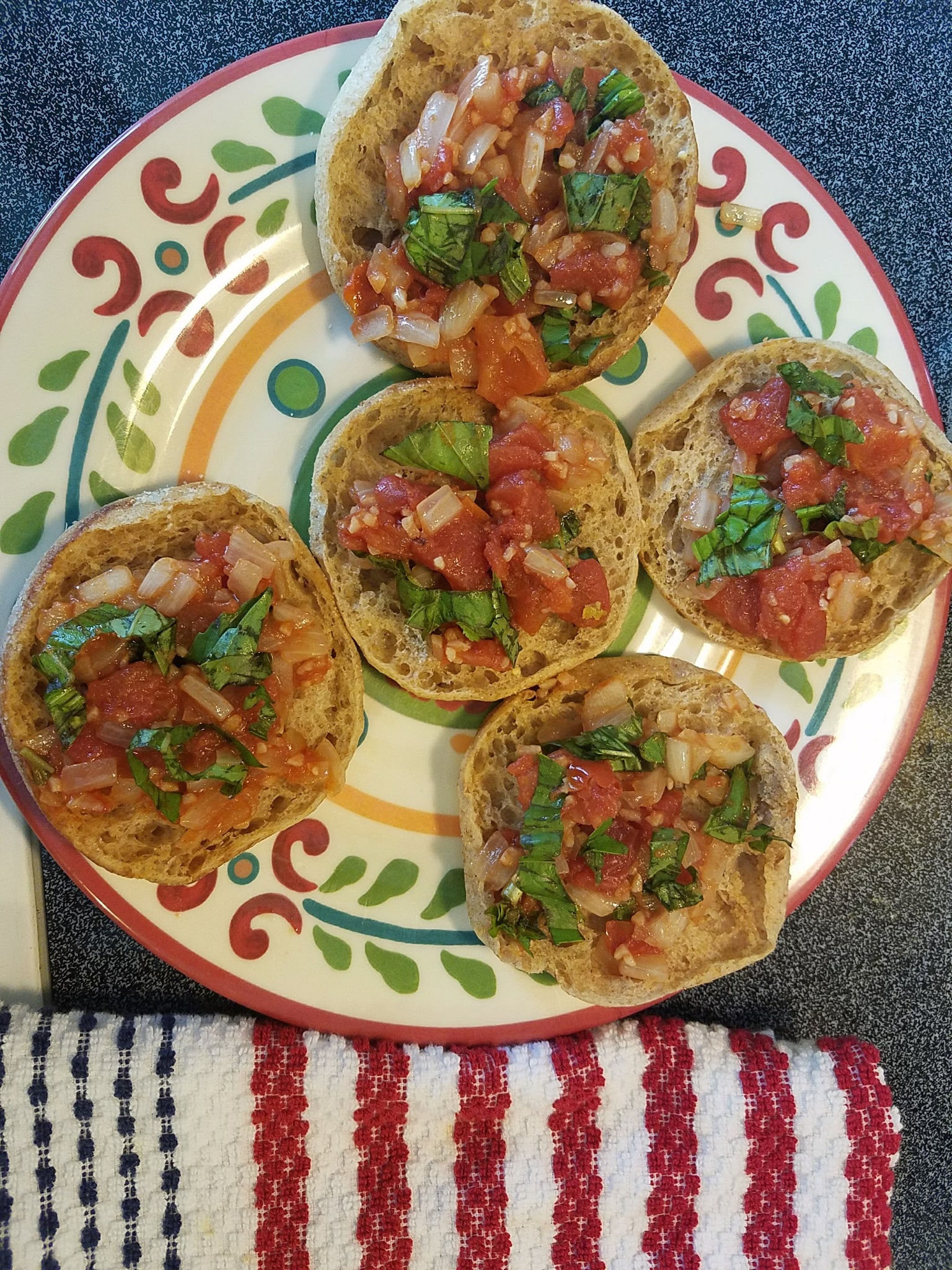 Indian Style Bruschetta