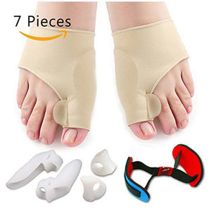 7 PCS Bunion Corrector Sleeves Kit Pain Relief Toe Separator Orthopedic Pedicure Tools For Legs Foot Care