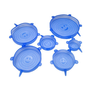 6pcs Reusable Stretch & Fit - Silicone Stretch Lids