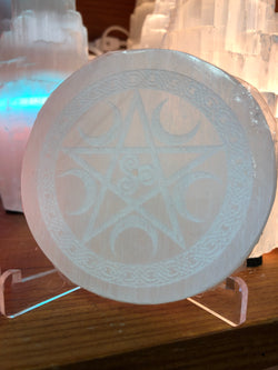 Selenite Celtic Pentacle Incense Burner