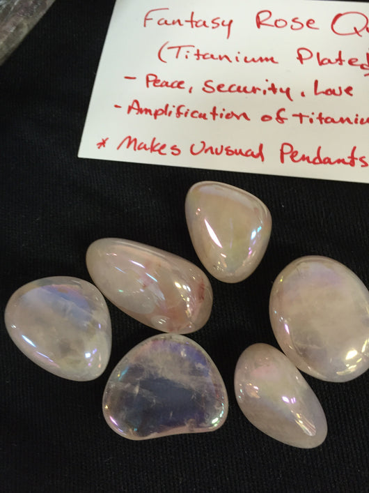 Fantasy Rose Quartz Tumbled Stone