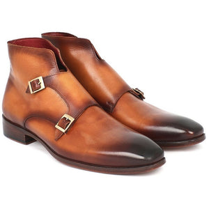 Double Monkstrap Boots Brown - West Nineties