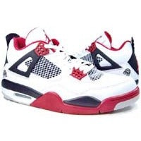 Air Jordan Mars 4 Retros Mens Size 9 308497 162 White-varsity Red-black - West Nineties