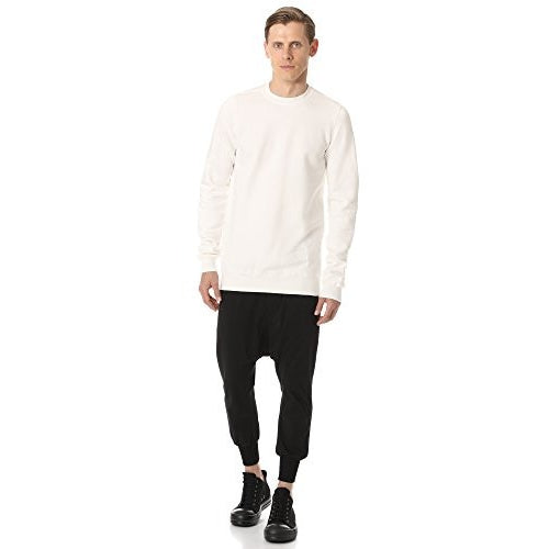 Rick Owens DRKSHDW Men's Crew Neck Sweatshirt, Milk
