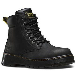 Dr. Martens Men's Winch Work Boots, Black Leather, 10 M UK, 11 M US - West Nineties