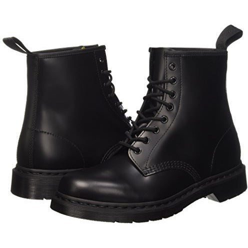 Dr. Martens Unisex 1460 8-Tie Lace-Up Boot,Black Smooth,UK 6 (US  7,  8) M US - West Nineties