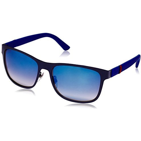 Gucci Men's Square Sunglasses, Matte Blue/Grey Multi, One Size - West Nineties