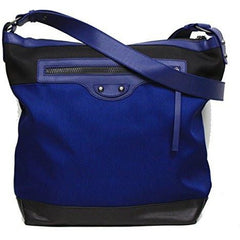 Balenciaga Nylon and Leather Veau Navy Blue Messenger Bag - West Nineties