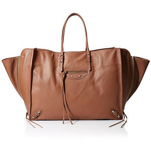 Balenciaga Women's Paper Zip Around A4, Dark Brown - West Nineties