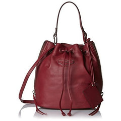 Balenciaga Women's Drawstring Cross-Body Bag, Burgundy - West Nineties