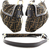 Fendi Chef FF Zucca Canvas Leather Hobo Shoulder Bag - West Nineties