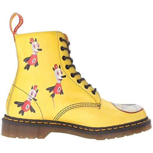 Dr. Martens Men's Pascal Baseman Backhand Combat Boot, Yellow, 9 UK/10 M US - West Nineties